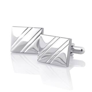 Rhodium-plated Cuff Links and/or Cardholder (All Silvertone)