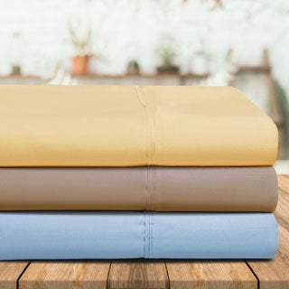 Superior 440 Thread Count Solid Cotton Sateen Sheet Set