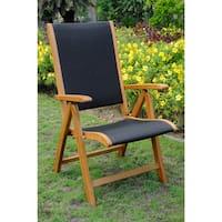 International Caravan Royal Tahiti Segovia Seat 5-position Folding Arm Chair (Set of 2)