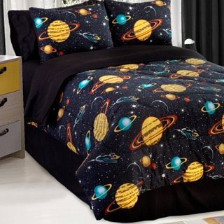 Well-liked Galaxy Glow In The Dark Twin-size 3-piece Comforter Set - Free  OC32