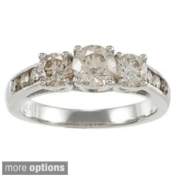 Auriya 14k Gold 1 1/2ct TDW Round Diamond 3-stone Engagement Ring (J-K, I1-I2)