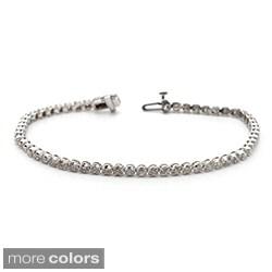 Auriya 14k Gold 2 1/6ct TDW Diamond 7.5-inch Tennis Bracelet (J-K, I2)