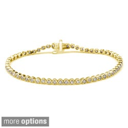 14k Gold 2 1/2ct TDW 6-Inch Round Diamond Tennis Bracelet by Auriya