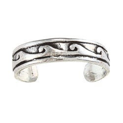 Sterling Silver Wave Design Toe Ring