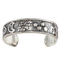 Sterling Silver Celestial Design Toe Ring