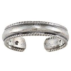 Sterling Silver Classic Rope Design Toe Ring