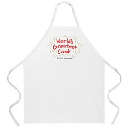 Attitude Aprons 'World's Greatest Cook' White Apron