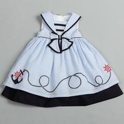 f88cf309fb074 Donita Toddler Girls Light Blue Sailor Collar Nautical Dress |  Overstock.com Shopping - The Best Deals on Girls' Dresses
