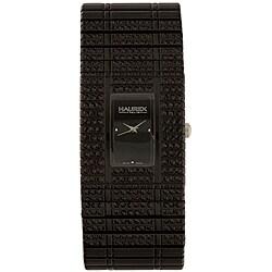 Haurex Women's Italy Jet Black Crystal Watch
