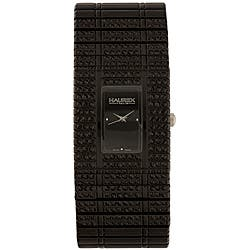 Haurex Women's Italy Jet Black Crystal Watch|https://ak1.ostkcdn.com/images/products/P14158947.jpg?impolicy=medium