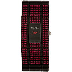 Haurex Women's Italy Red Crystal Watch