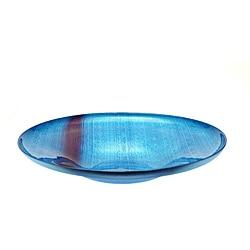Canvas Purple/ Blue 16-inch Shallow Bowl - Thumbnail 0