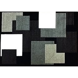 Modern Deco Chocolate Boxes Rug (3'9 x 5'1)