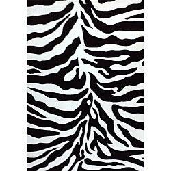 Generations Black Zebra Rug (3'9 x 5'1)