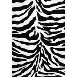 Generations Black Zebra Rug (7'9 x 10'5)