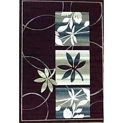 Generations Burgundy Floral Rug (3'9 x 5'1)