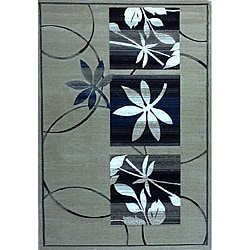 Generations Champagne Floral Rug (3'9 x 5'1)