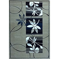 Generations Champagne Floral Rug - 3'9 x 5'1