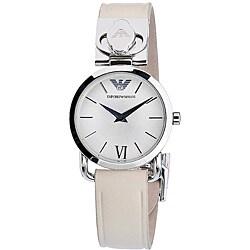 Emporio Armani Women's Beige Strap Watch