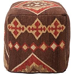 Decorative Southwestern Brown Pouf