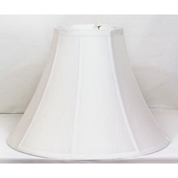 Bright White Shantung Silk Bell Shade Large