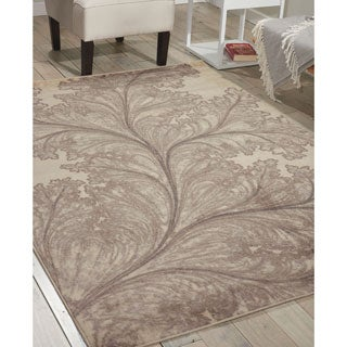 Nourison Utopia Ivory Abstract Rug (7'9 x 10'10)