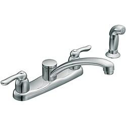 Moen 7907 Chateau Two-Handle Low Arc Kitchen Faucet Chrome