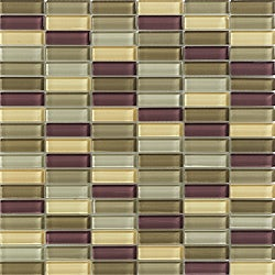 Lush 11.5x11.5-in. 'Metropol' Mosaic 1/2x2-in. Glass Tiles (Pack of 10)