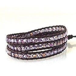 Purple Muse Crystal Leather Bracelet (Thailand)