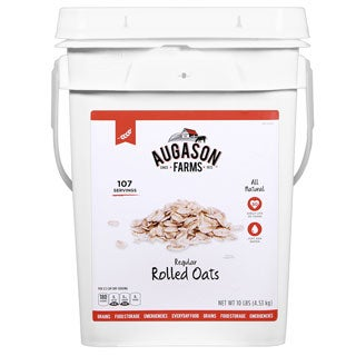 Augason Farms Regular Rolled Oats Hot or Cold Cereal
