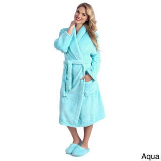 Ultrasoft Plush Bathrobe and Slipper Set|https://ak1.ostkcdn.com/images/products/P14193257a.jpg?impolicy=medium