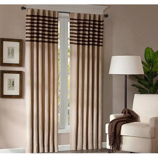 Madison Park Dune Microsuede Beige Curtain Panel Pair