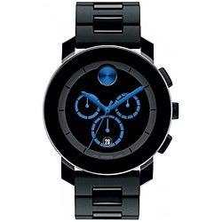 Movado Men's Black Bracelet Chronograph Watch