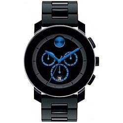 Movado Men's Black Bracelet Chronograph Watch