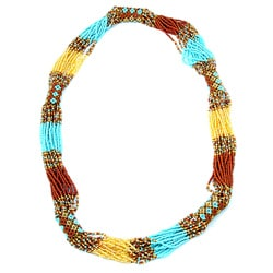Zul Glass Bead Necklace Desert (Guatemala)