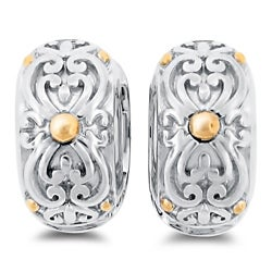Meredith Leigh Sterling Silver and 14k Gold Cuff Earrings