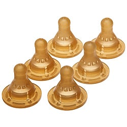 NUK Latex 3-hole Nipples (Pack of 6)