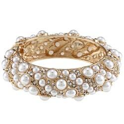 Kenneth Jay Lane Goldtone Faux-pearl Bracelet