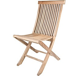 Solid Teak Classic Foldable Dining Chairs (Set of 2)