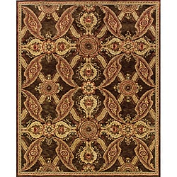 Evan Brown/ Rust Transitional Area Rug (9'3 x 13'3)
