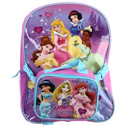 Shop Disney Princess 16 Inch Backpack With Lunch Bag