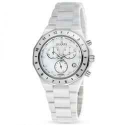 Skagen Women's C913SWXC Ceramic Round White Bracelet Watch|https://ak1.ostkcdn.com/images/products/P14220506.jpg?impolicy=medium