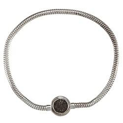 Victoria Kay Sterling Silver 1/10ct TDW Black Diamond Circle Bracelet
