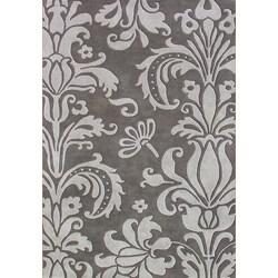 Alliyah Handmade Grey New Zealand Blend Wool Rug (6' x 9')
