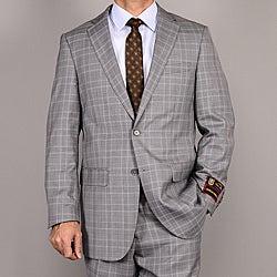 Men's Gray Plaid Suit