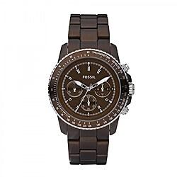 Fossil Women's Stell Aluminum Chronograph Watch