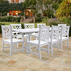 Bradley Rectangular Extension Table and Armchair Outdoor Wood Dining Set