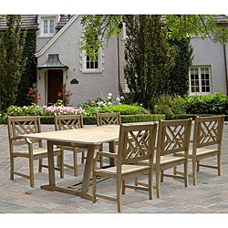 Renaissance Oval Extension Table and Armchair Outdoor Dining Set