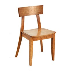 Emily New Oak Wood Dining Chairs (Set of 2)