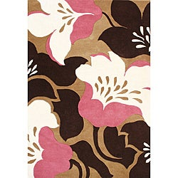Alliyah Handmade Biscuit New Zealand Blend Wool Rug (8' x 10') - Thumbnail 0